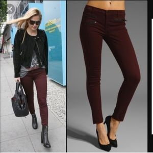 J Brand Zoey burgundy skinny jeans size 24
